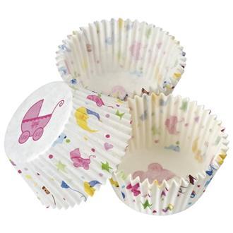 Muffinsform babyshower, 100-pack