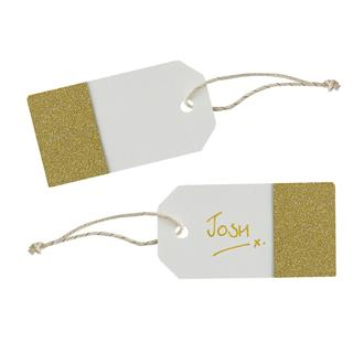 Tags Ivory & Guld, 10-pack