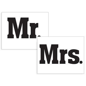 Klistermärken till brudparets skor