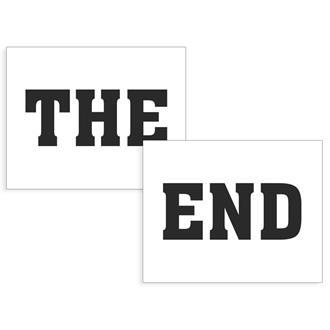 """Klistermärken till skor """"The End"""""""