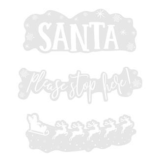 Fönster stickers jul Snälla tomten stanna här