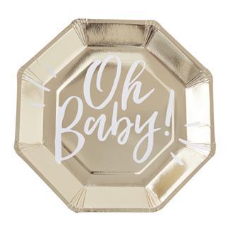 Engångstallrik Oh Baby, 8-pack