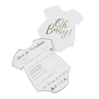 Babyshower kort oh baby, 10st