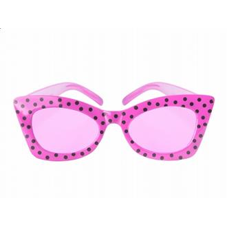 50-tals glasögon Cerise/svart