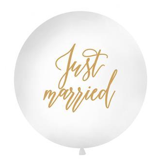 """Ballong """"Just married"""" guld, 1 m."""