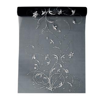 Organza svart med mönster