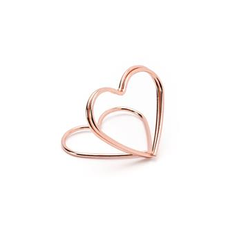 Korthållare hjärta Rosé, 10-pack