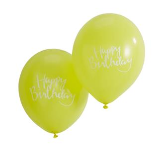 Födelsedagsballonger Grön, 10-pack