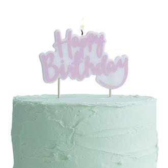 "Tårtljus ""Happy Birthday"" Rosa"