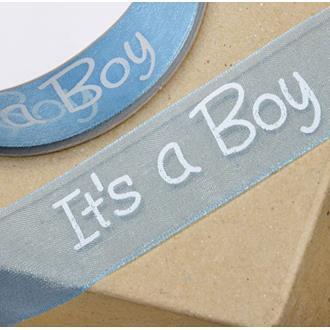 "Chiffongband ""It´s a Boy"", metervara"