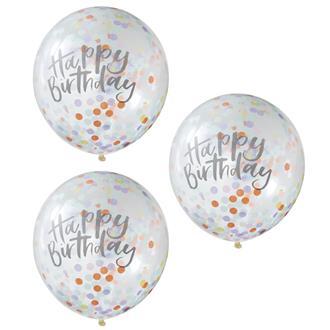 "Konfettiballonger ""Happy Birthday"", 5-pack"