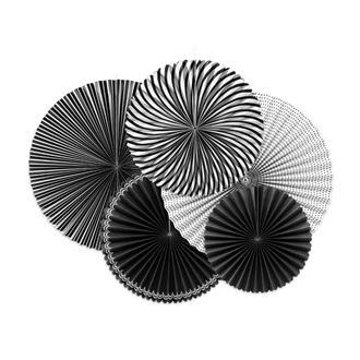Dekorationsrosetter Svart, 5-pack