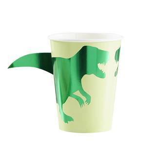 Engångsmugg Dinosaurie, 8-pack