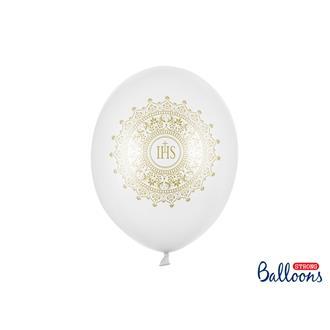 Ballonger Konfirmation vit, 6-pack