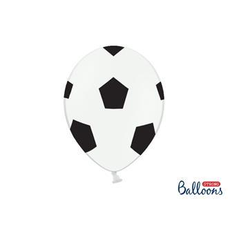 Fotbollsballonger 30 cm, 6-pack