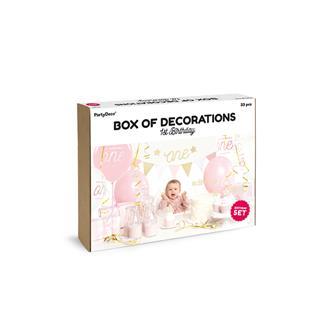 Partybox Rosa 1år