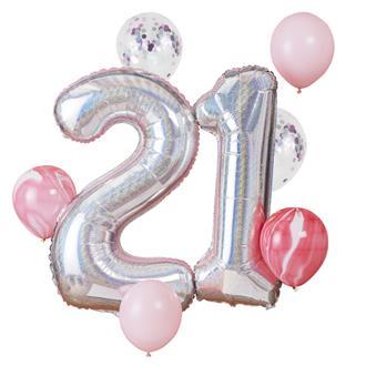 Set med ballonger 21 år