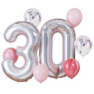 Ballongbukett 30 år