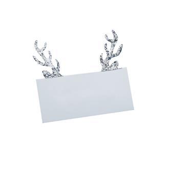 Placeringskort renhorn silver, 10st