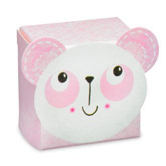 Presentask panda rosa, dop/babyshower/1 år
