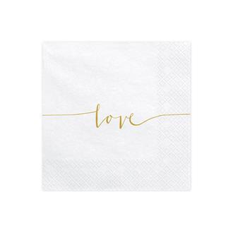 Servetter Love, 20-pack