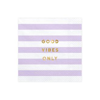 Servetter Good vibes only, 20-pack