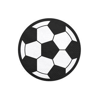 Servetter Fotboll Runda, 20-pack