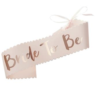 """Ordensband """"Bride to Be"""" rosa"""