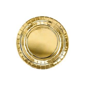 Assiett guld 18 cm, 6-pack