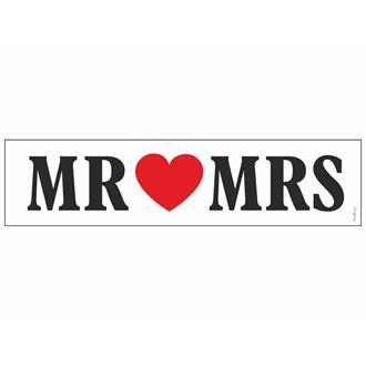 Bilskylt Bröllop MR ♥ MRS 2 st