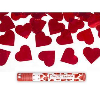 Konfettibomb röda hjärtan