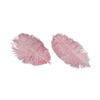 Rosa fjädrar 6 st.
