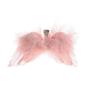 Rosa änglavingar med klämma, 7 x 12 cm.