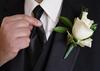 Corsage clips till bröllop, 2 st