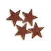 Konfetti röda stjärnor i trä, 12st