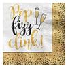 Servetter Champagneglas guld/svart, 36-pack