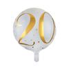 Folieballong 20 år guld/vit