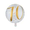 Folieballong 70 år guld/vit