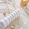 Papperssnöre med ståltråd Guld, flera förpackningsstorlekar