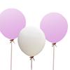 Jätteballonger  Vita/Rosa Mix, 3-pack