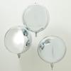 Folieballong rund Silver, 3st