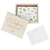 Botanisk Baby Shower Advice Cards och minneslåda