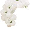 Ballonggirlang vit med konstgjorda löv