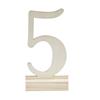 Bordsnummer träsiffror 1-12