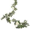 Konstgjord Eukalyptus girlang med Vita Rosor