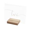 Bordsnummer i akryl med trähållare