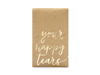 "Näsdukar ""Your Happy Tears"" natur/guld, 10 paket"
