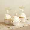Cupcake toppers/coktailpinnar guld, 6-pack