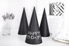 Halloween svarta partyhattar i 6-pack
