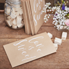 Godispåse bröllop rustik/natur, 20-pack